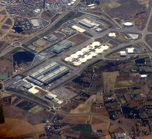 Airport image from a bird's eye view